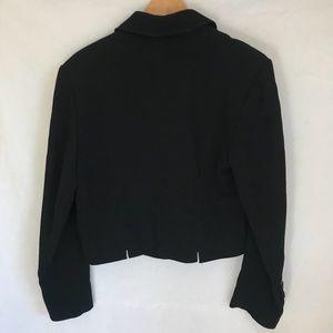 Louis Feraud Jackets & Coats - Louis Feraud Black Cropped Blazer Suit Jacket 8